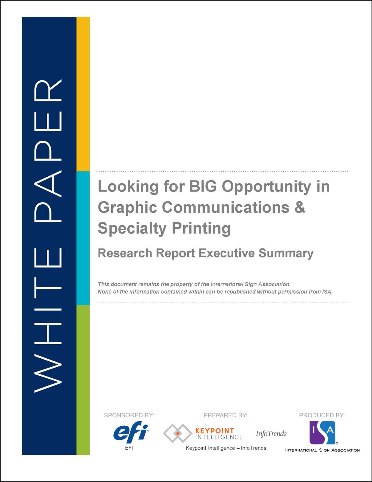 Looking for BIG Opportunity in Graphic Communications & Specialty Printing