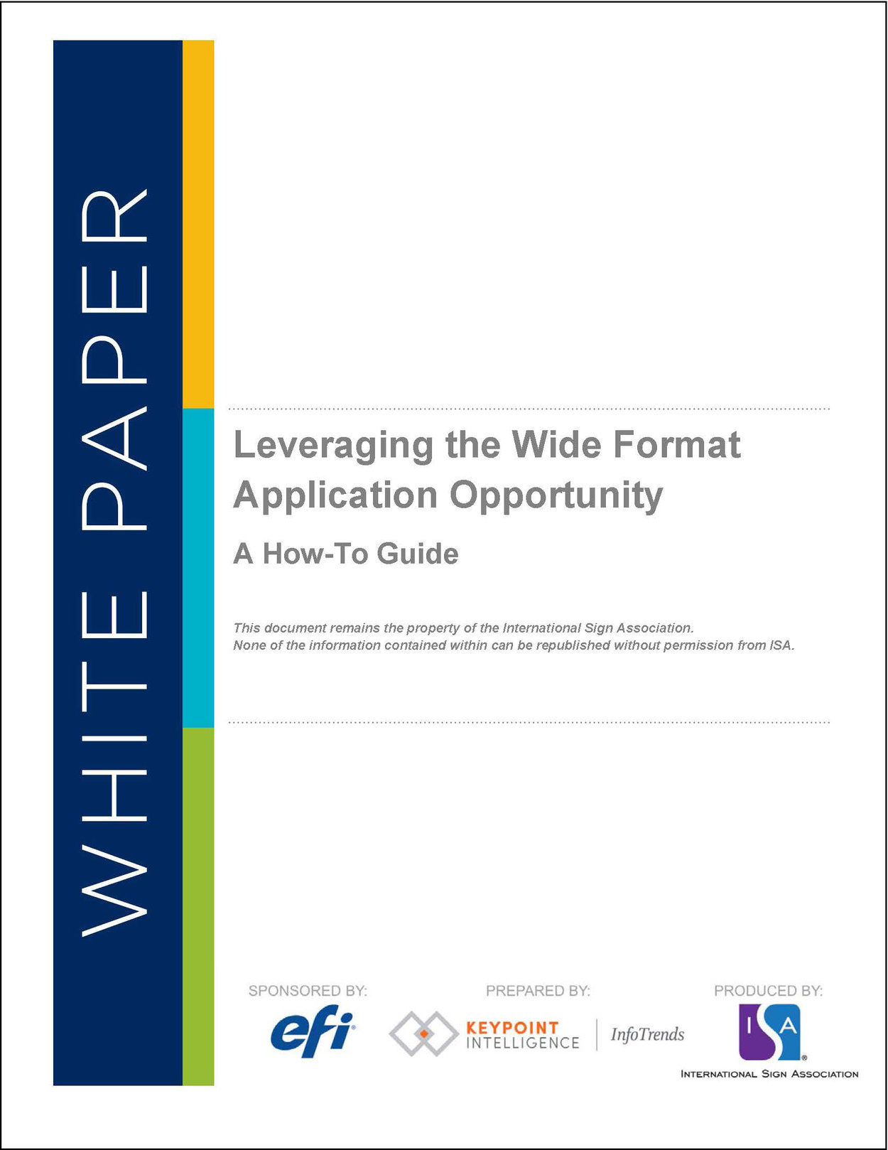 Leveraging The Wide Format Application Opportunity Cover