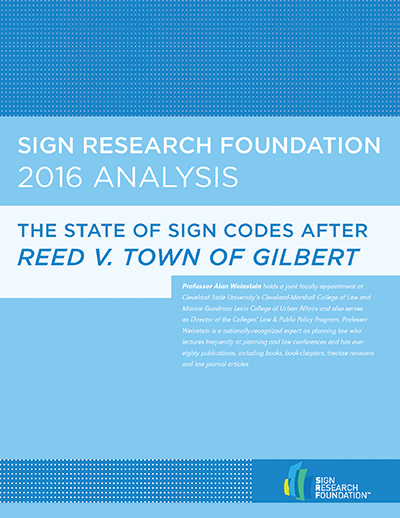 The State of Sign Codes after Reed V. Town of Gilbert
