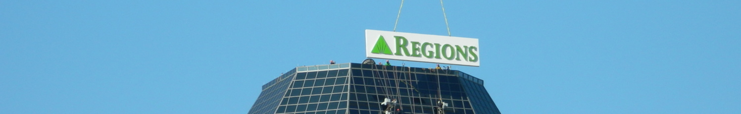 Regions Bank High Rise Sign